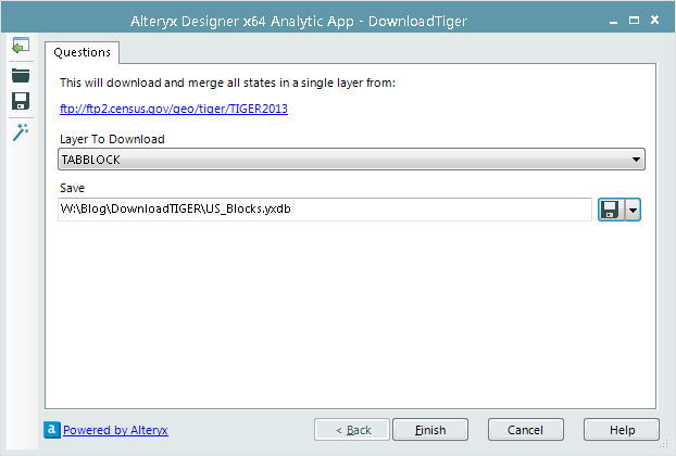 Downloading from TIGER - Alteryx Community